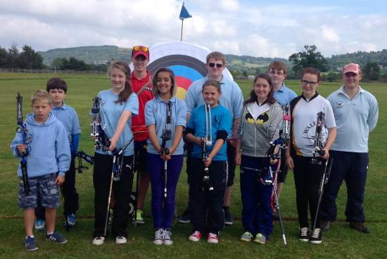 Some of our very successful Junior Compound Team
