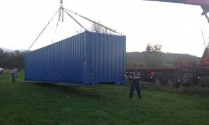 Our first container delivery!