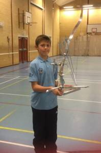 Riley Spencer-Nice (11) won the junior recurve with 534.