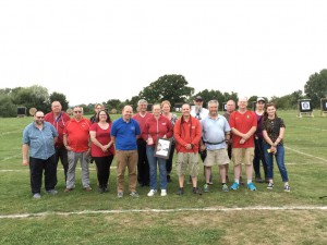 Some of our coaches with the Ontarget Performance Club of the Year Award.