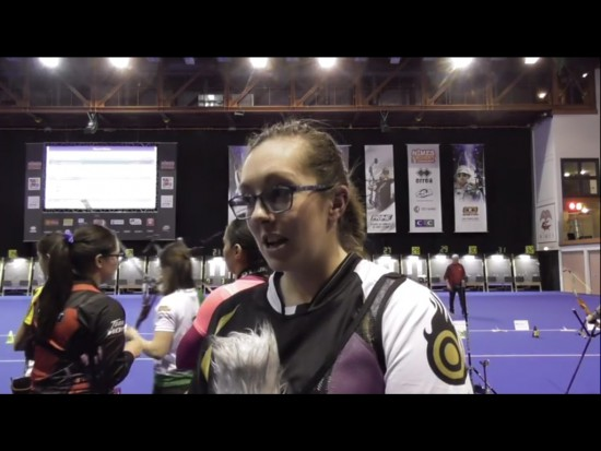 Sarah Bettles being interviewed after some excellent H2H matches.