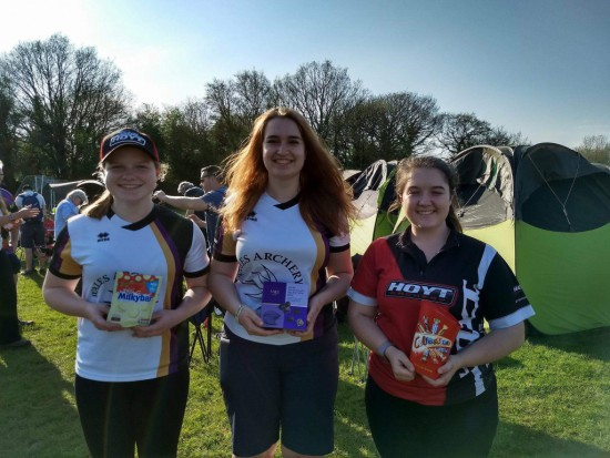 Lucy, Ella & Grace, good day at Cleve Archers World Record Status event.