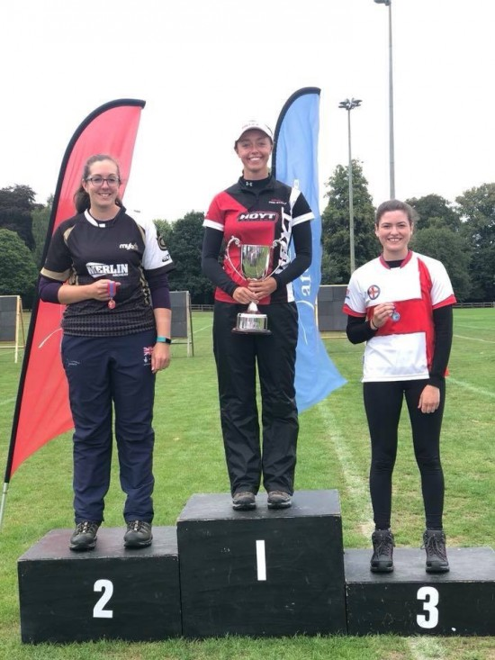 Sarah Bettles Runner Up in the Recurve section.