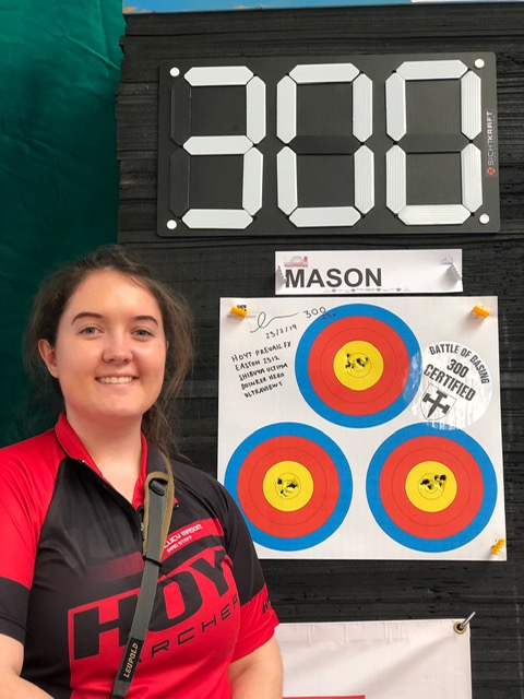 Lucy scored 2 perfect rounds of 300!